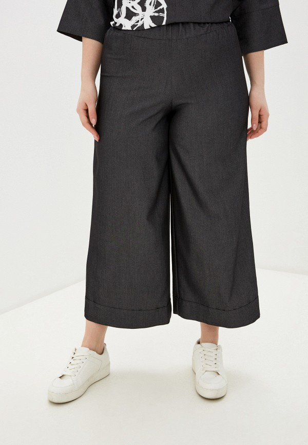 женские брюки клеш sophia, серые