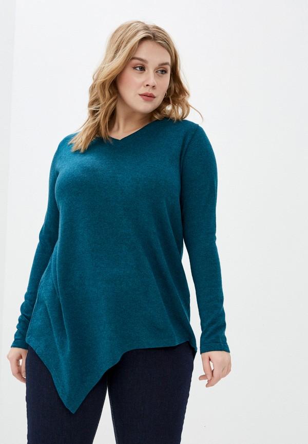 женский пуловер sophia, бирюзовый