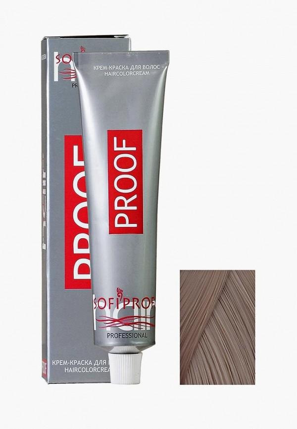 Купить Краска для волос Sofiprofi, PROOF 60 мл, 7.1, средне-русый, пепельный, so046lwehap1, серый, Весна-лето 2019