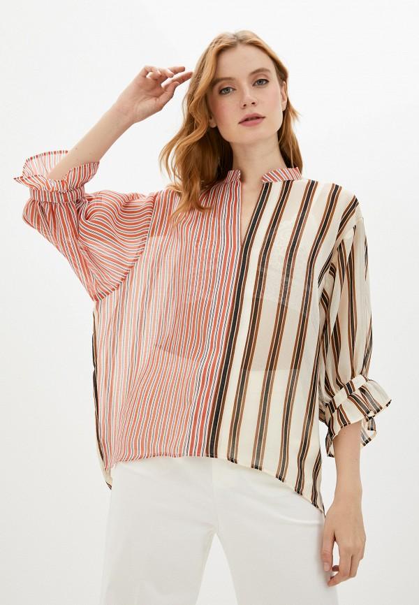 женская блузка soaked in luxury, разноцветная