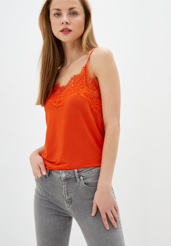 женский топ soaked in luxury, оранжевый