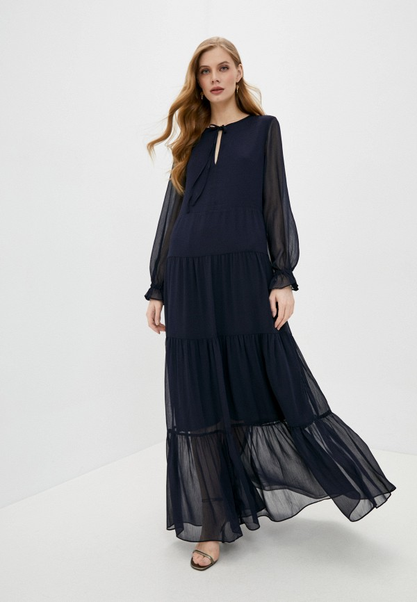 женское вечерние платье soaked in luxury, синее