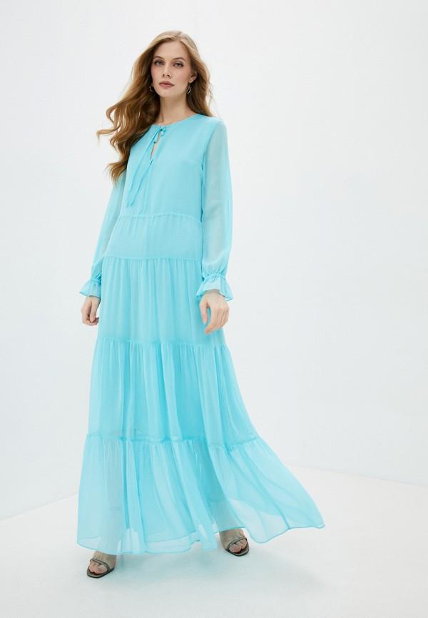 женское вечерние платье soaked in luxury, голубое
