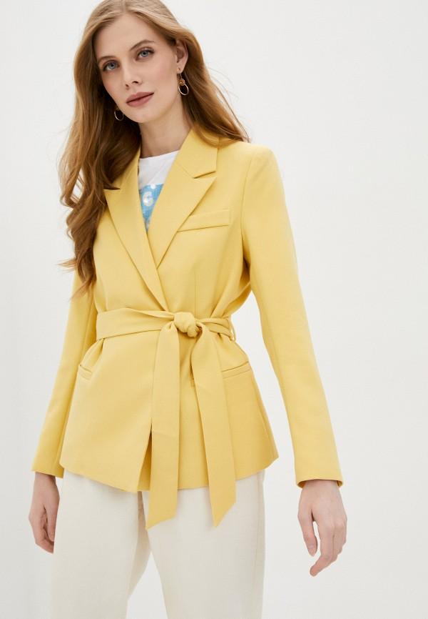 женский жакет soaked in luxury, желтый