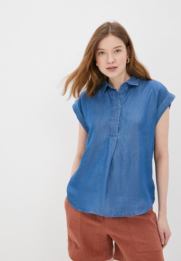 женская джинсовые рубашка soaked in luxury, синяя