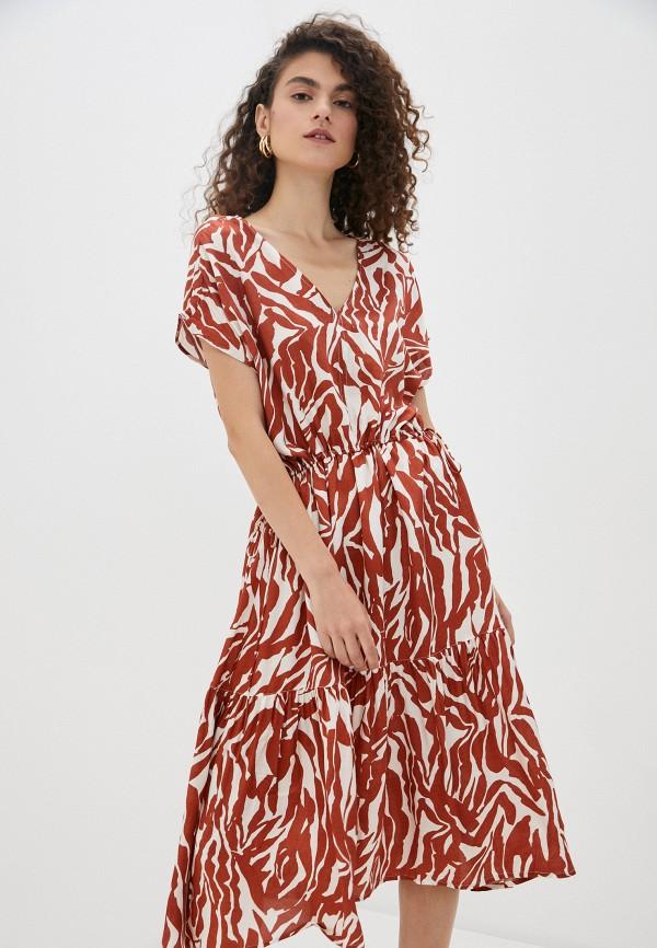 женское повседневные платье soaked in luxury, коричневое