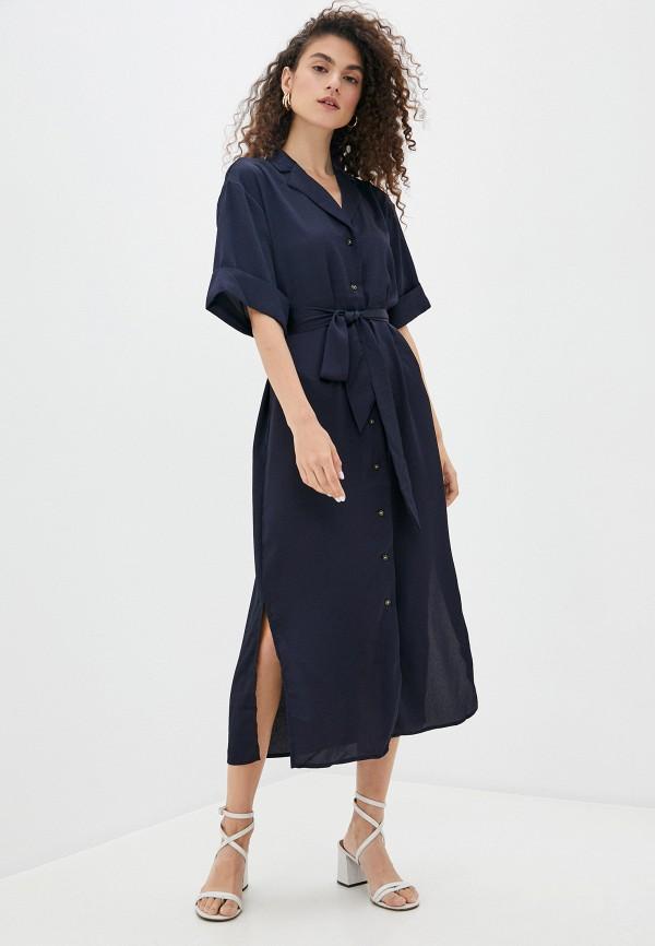 женское платье soaked in luxury, синее