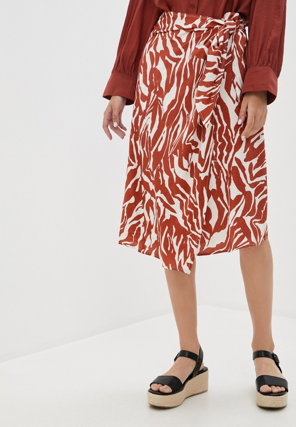 женская юбка soaked in luxury, коричневая