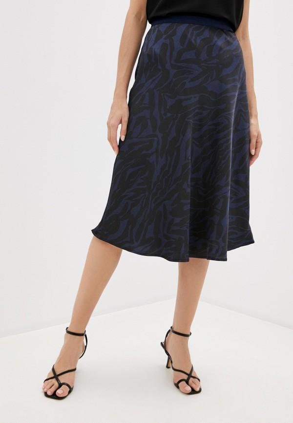 женская юбка-трапеции soaked in luxury, синяя