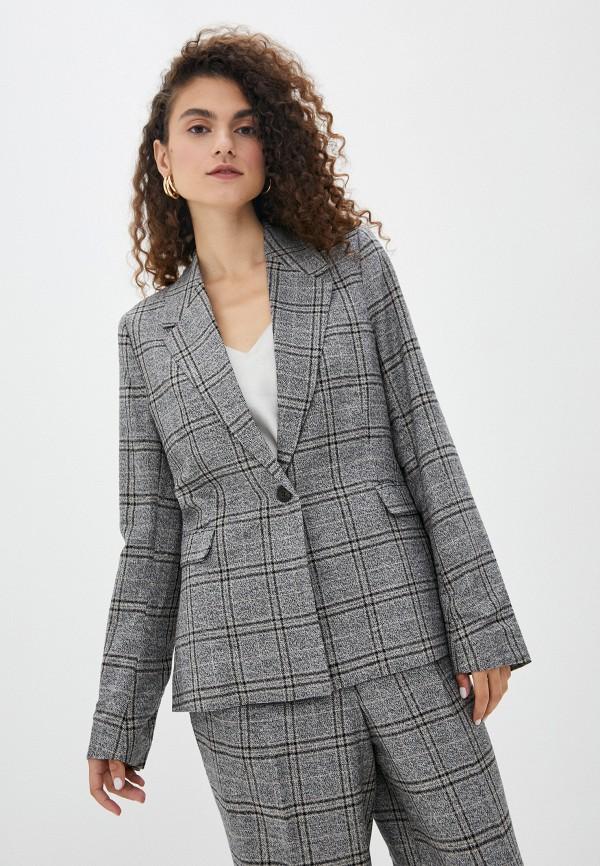 женский пиджак soaked in luxury, серый