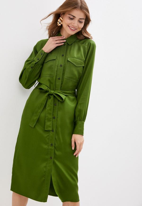 женское платье soaked in luxury, зеленое