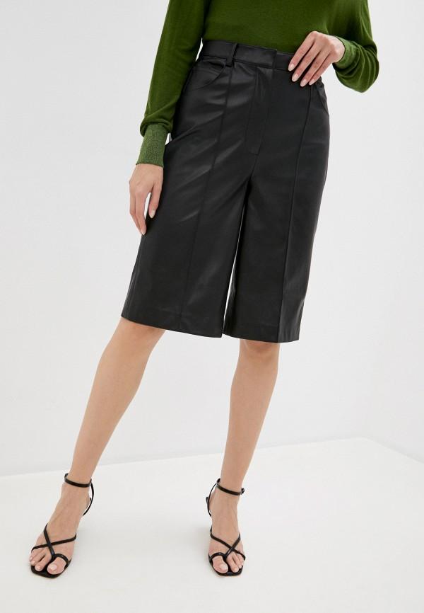 женские повседневные шорты soaked in luxury, черные