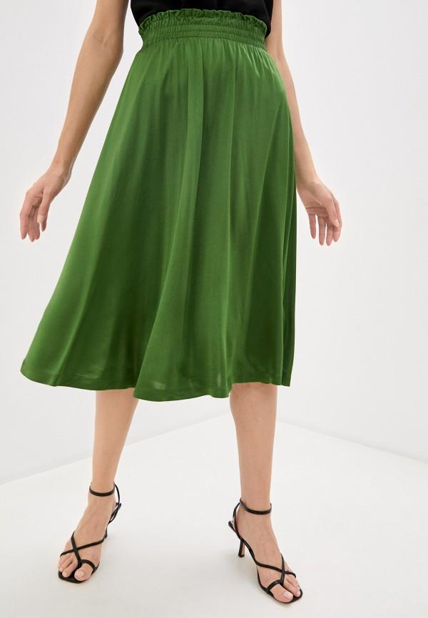 женская юбка-трапеции soaked in luxury, зеленая