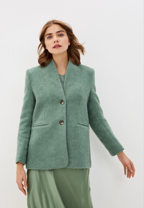 женское пальто soaked in luxury, зеленое
