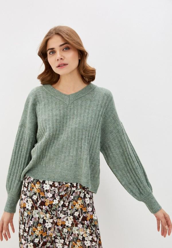 женский пуловер soaked in luxury, зеленый