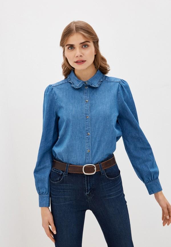 женская джинсовые рубашка soaked in luxury, голубая
