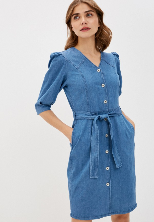 женское джинсовые платье soaked in luxury, синее