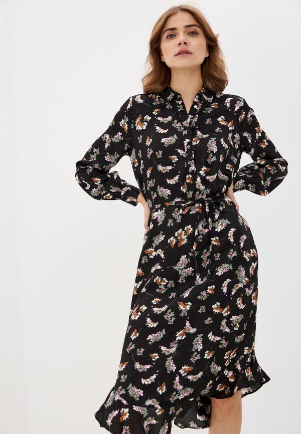 женское повседневные платье soaked in luxury, черное