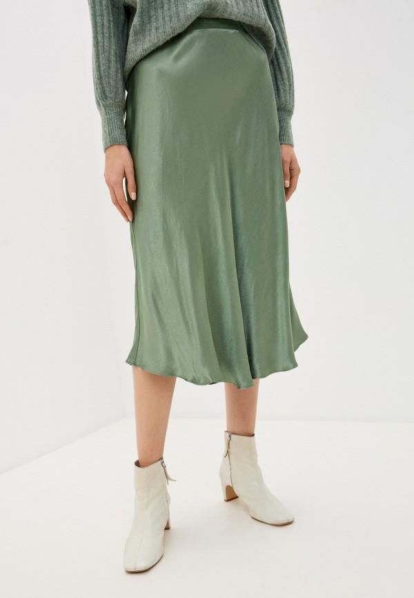 женская прямые юбка soaked in luxury, зеленая