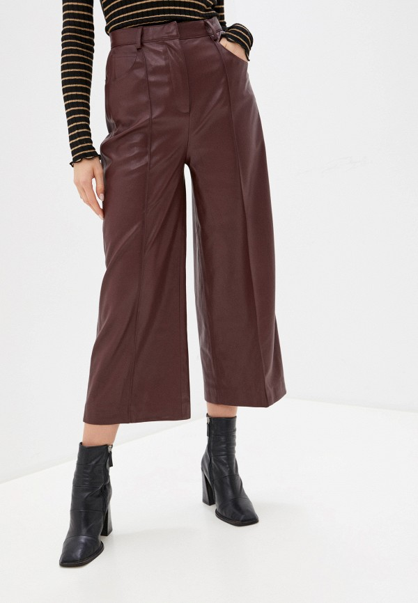 женские брюки soaked in luxury, бордовые