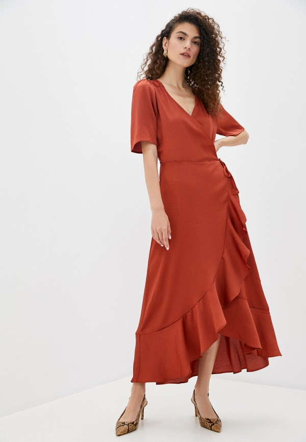 женское платье soaked in luxury, коричневое