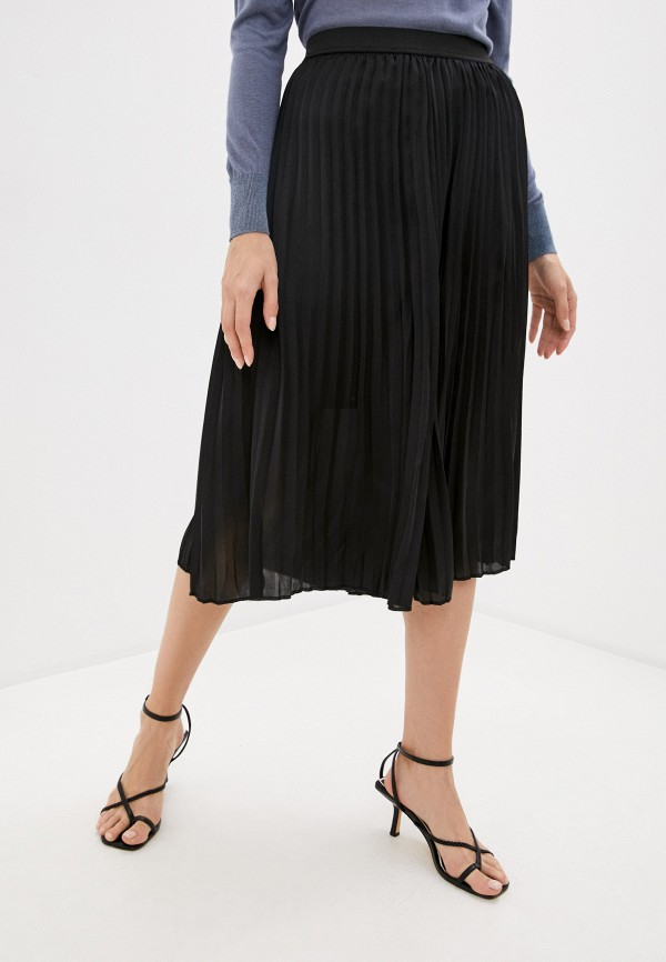 женская плиссированные юбка soaked in luxury, черная