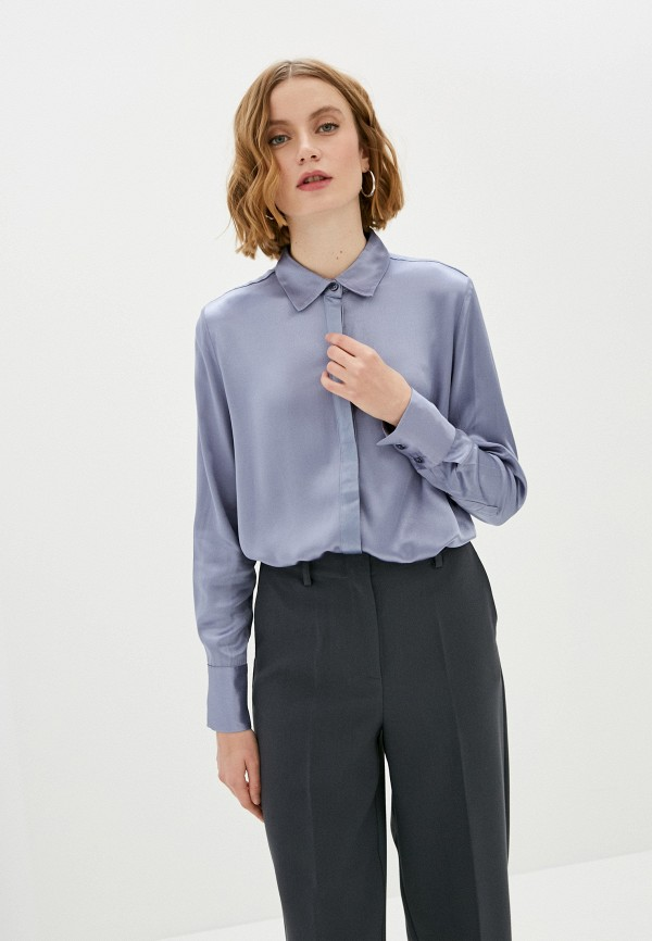 женская блузка soaked in luxury, голубая
