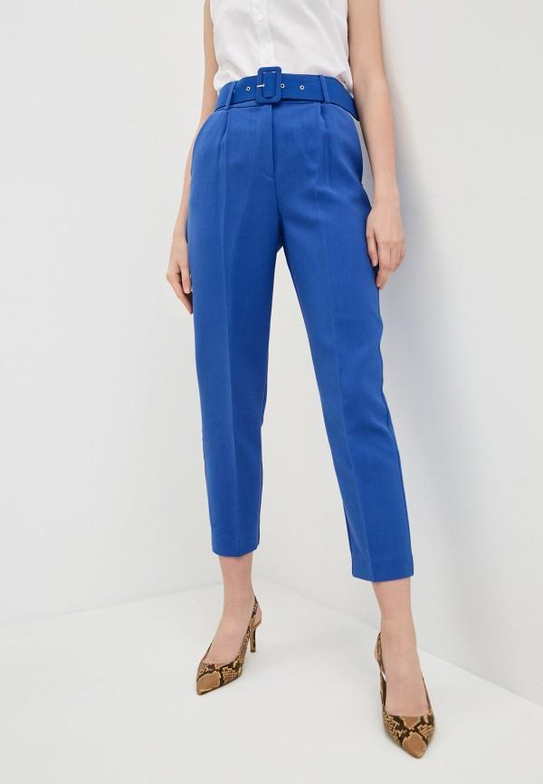 женские классические брюки soaked in luxury, синие