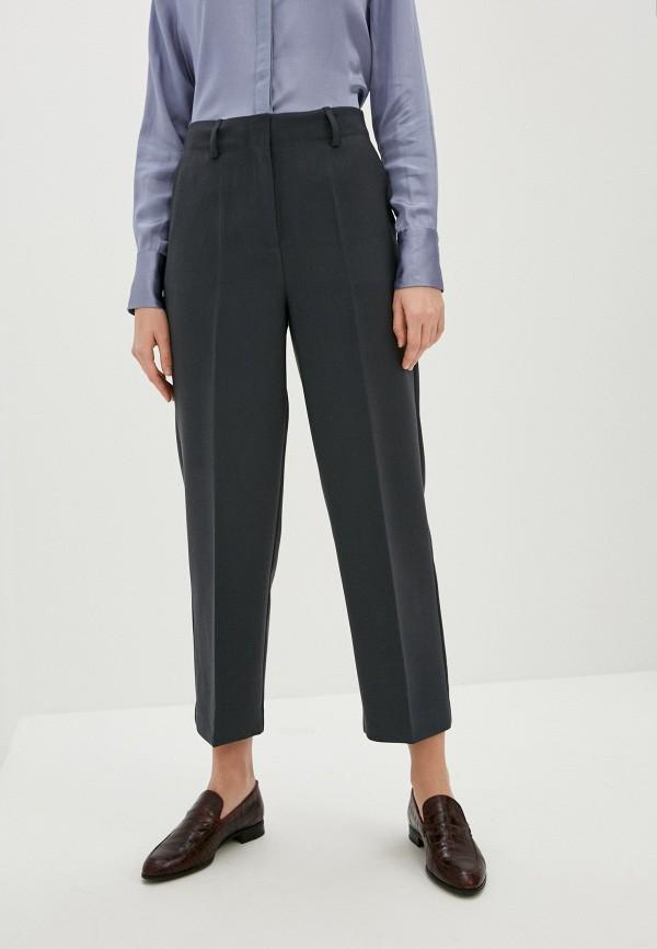 женские классические брюки soaked in luxury, серые