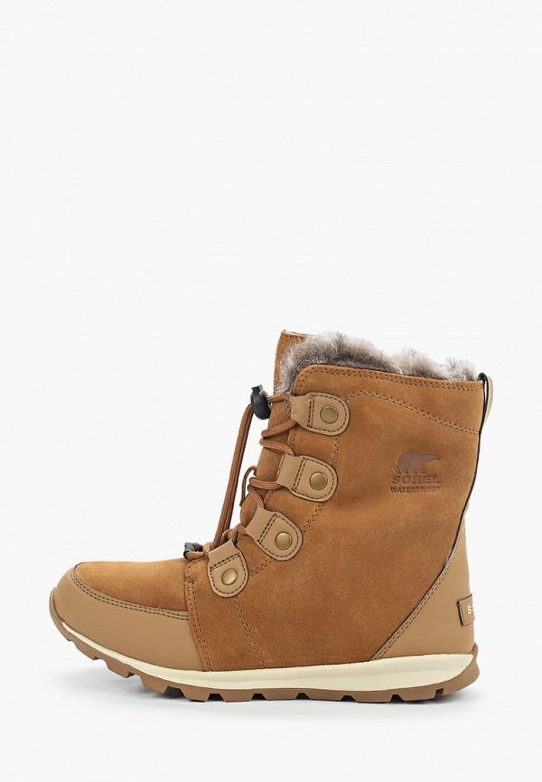 ботинки sorel для девочки, коричневые