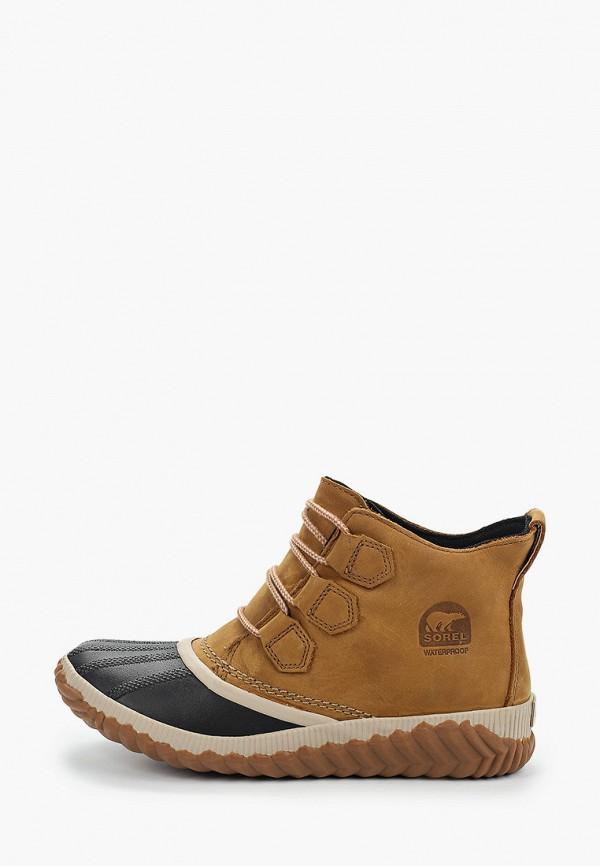 женские ботинки sorel, бежевые