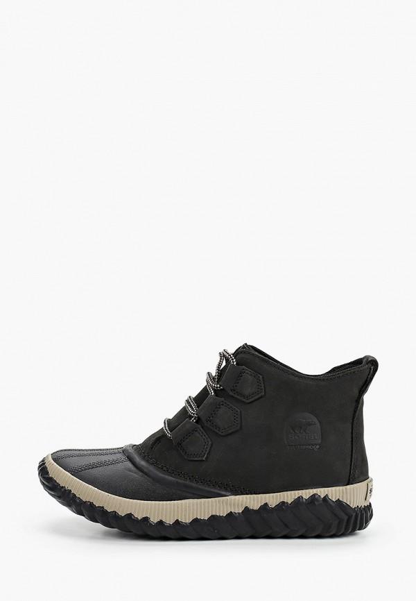 женские ботинки sorel, черные