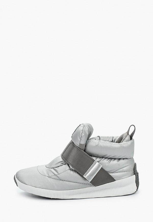 женские ботинки sorel, серебряные
