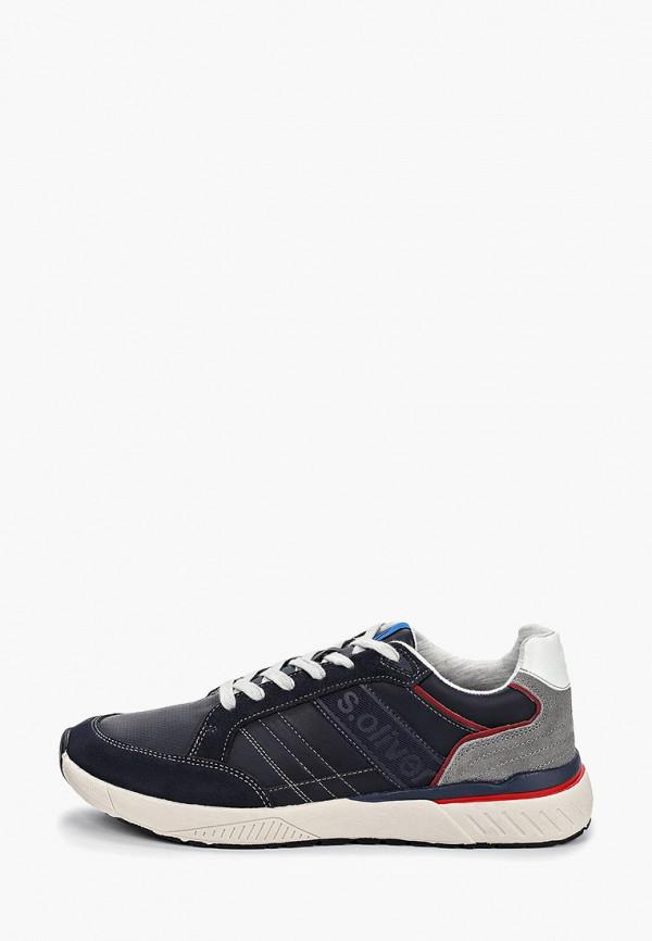 Фото - мужские кроссовки s.Oliver синего цвета