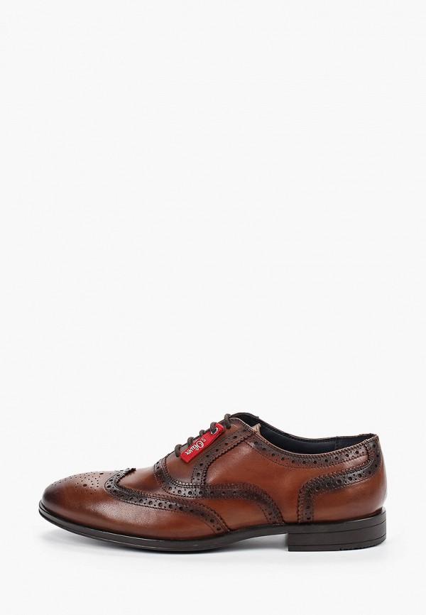мужские туфли s.oliver, коричневые