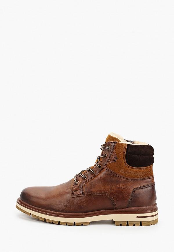 мужские высокие ботинки s.oliver, коричневые