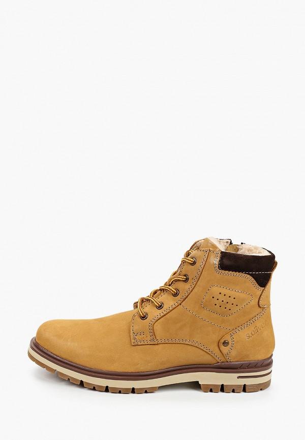мужские ботинки s.oliver, желтые