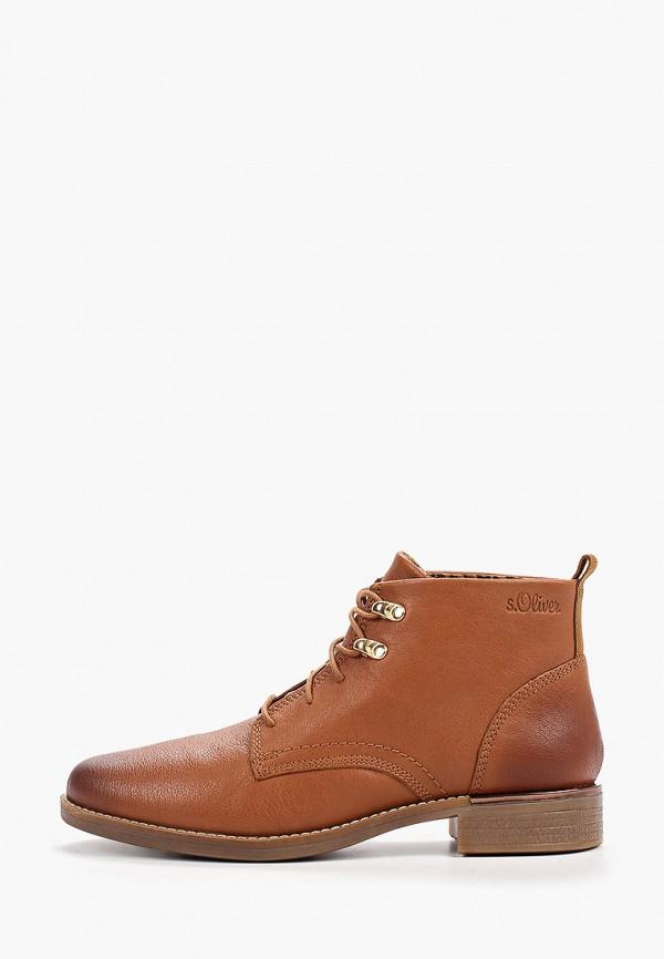 женские ботинки s.oliver, коричневые
