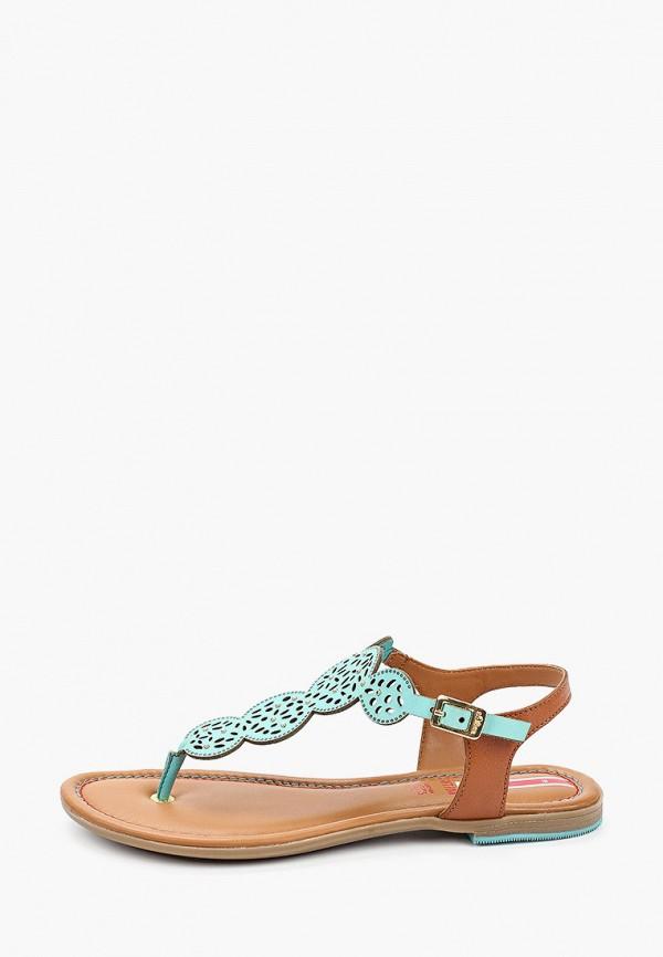 женские сандалии s.oliver, голубые
