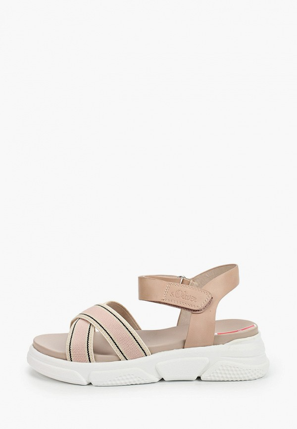 женские сандалии s.oliver, розовые