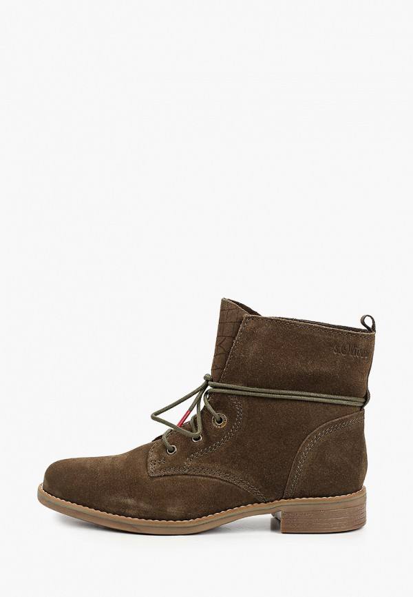 женские ботинки s.oliver, хаки