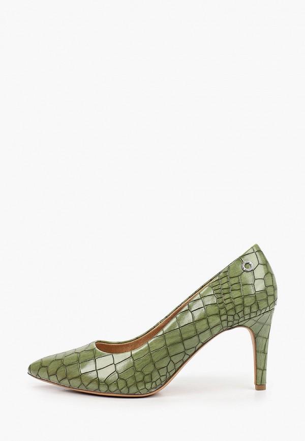 женские туфли-лодочки s.oliver, зеленые