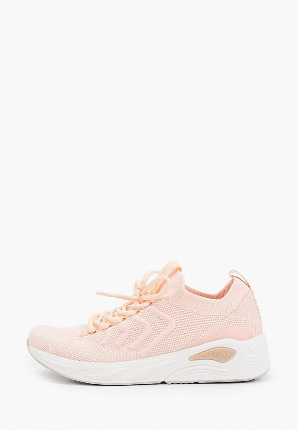 женские кроссовки s.oliver, бежевые