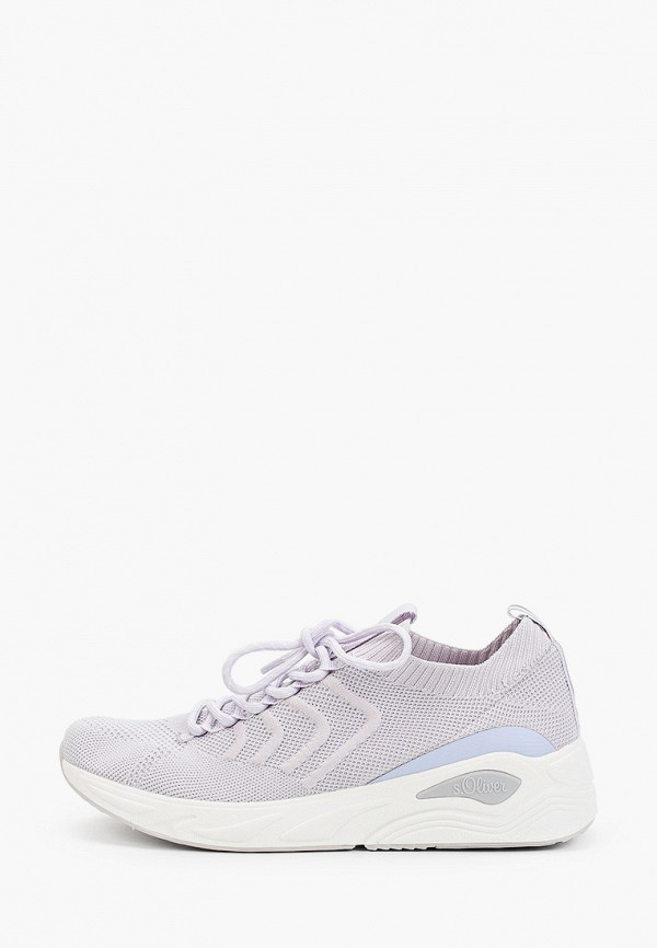 женские низкие кроссовки s.oliver, фиолетовые