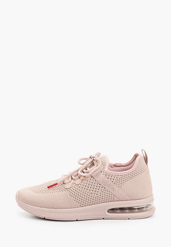 женские кроссовки s.oliver, розовые