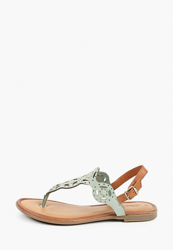 женские сандалии s.oliver, зеленые