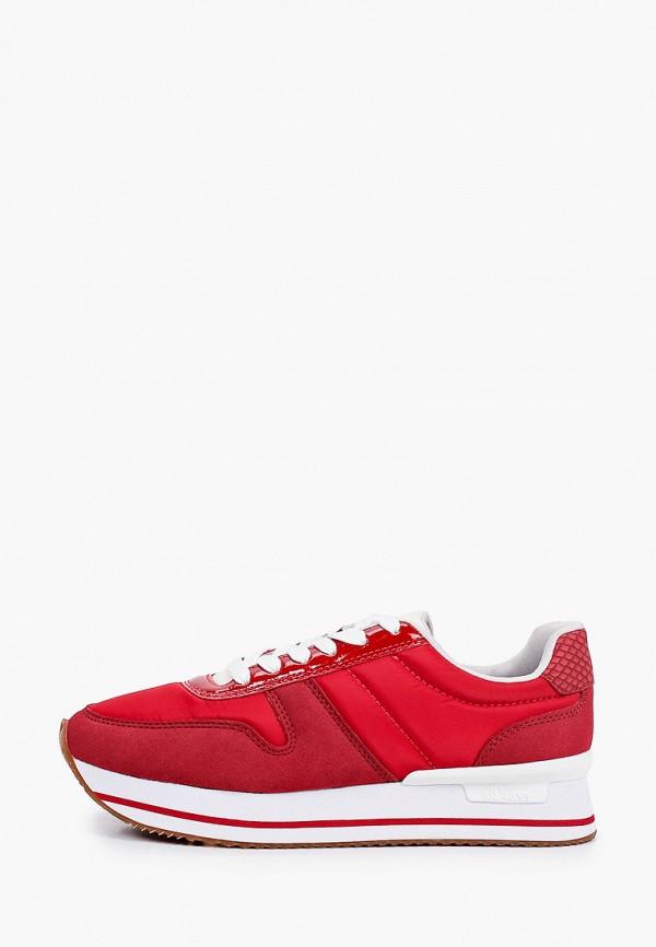 женские низкие кроссовки s.oliver, красные