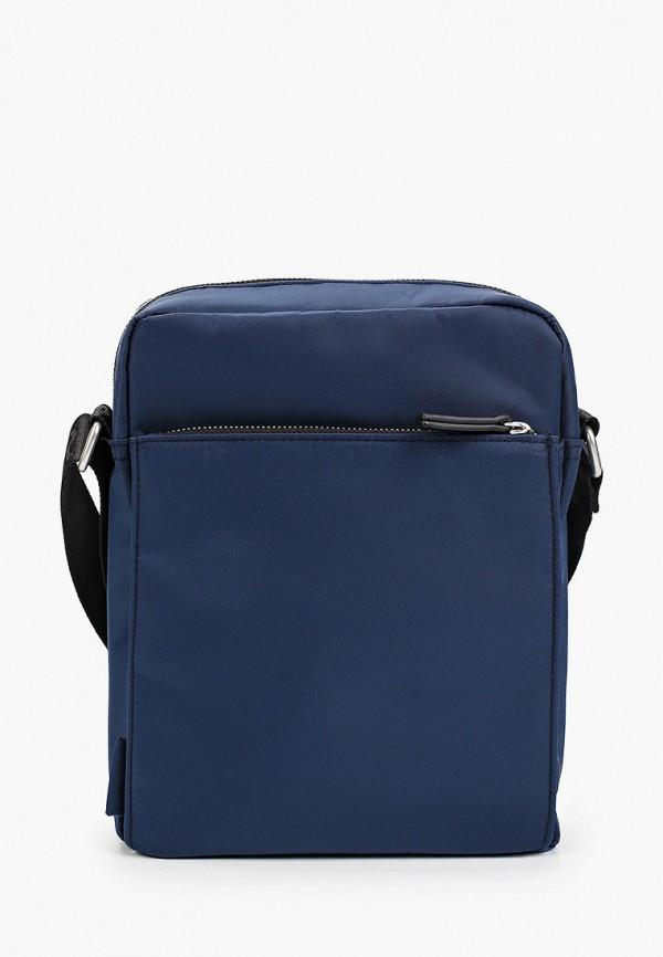 мужская сумка через плечо s.oliver, синяя