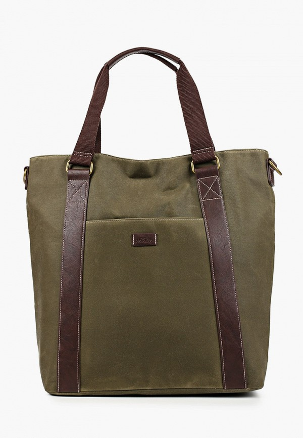 мужская сумка с ручками s.oliver, хаки