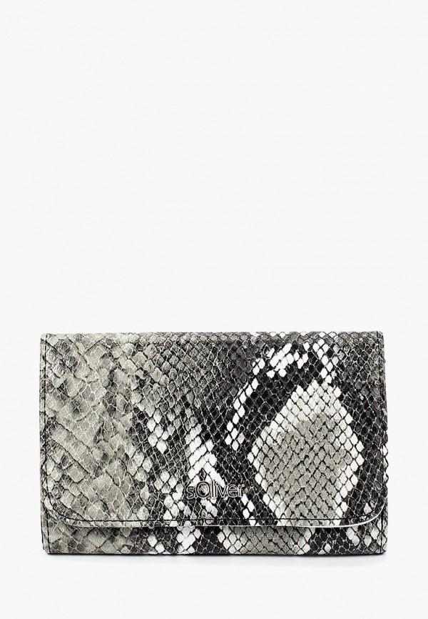 женский кошелёк s.oliver, серый